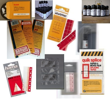 UK Stock Super 8 Splicing tape x 25 Splicing tabs Film joining splicing tape